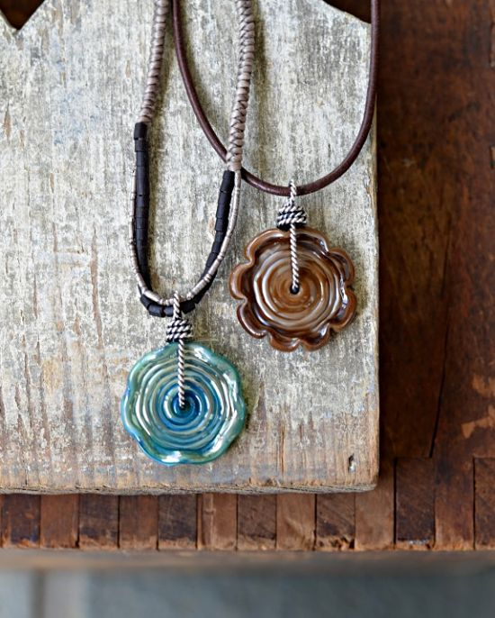 Wire-wrapped lampwork discs