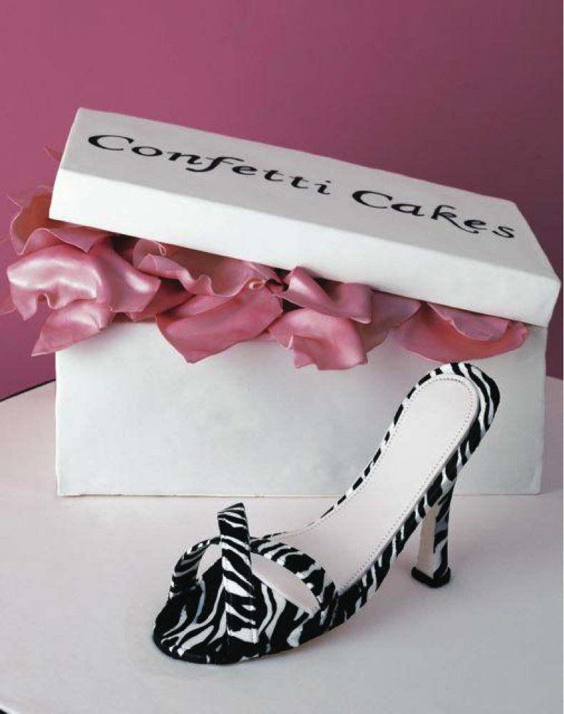 Zebra Print Shoe Cake