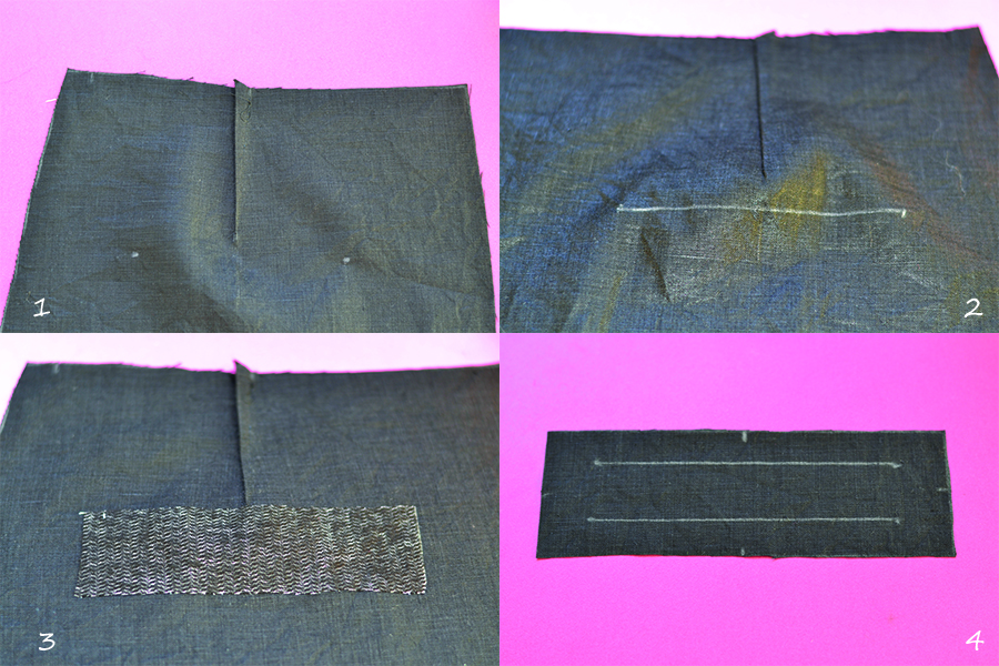 sewing the dart and the welt pocket