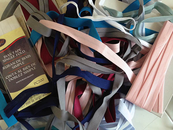 Pile of Colorful Bias Tape