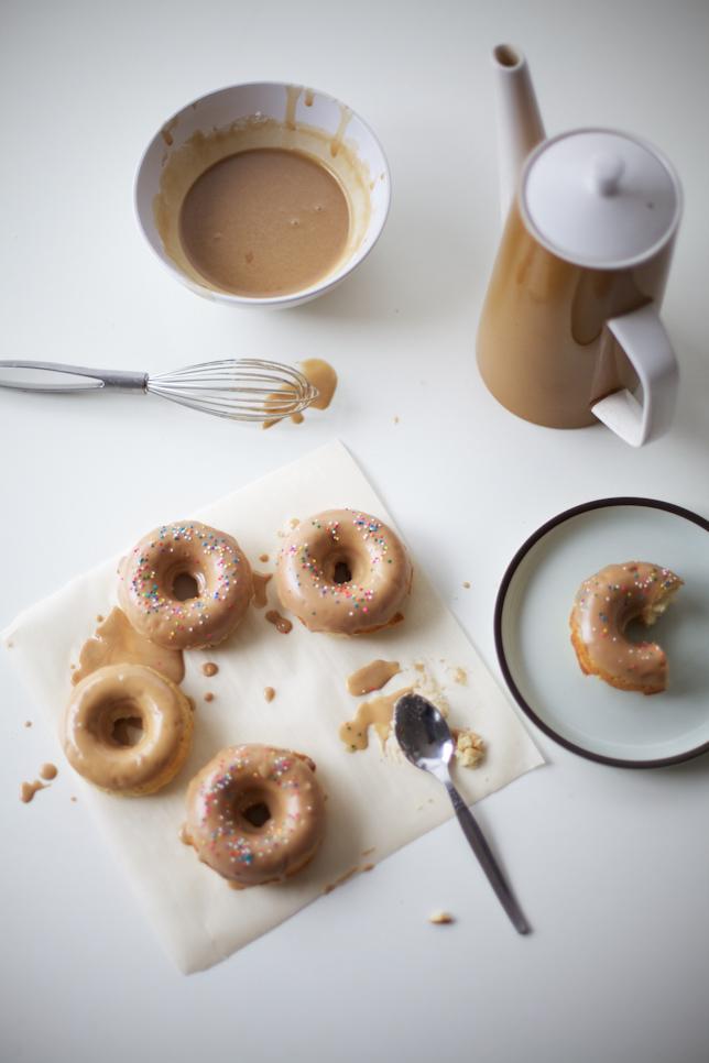 Coffee Glazed Doughnuts