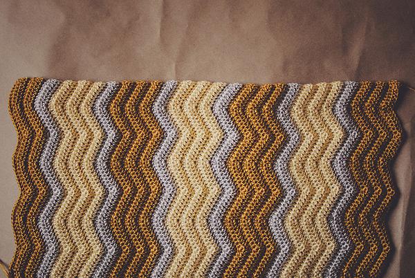 Multicolored Chevron Crochet Swatch