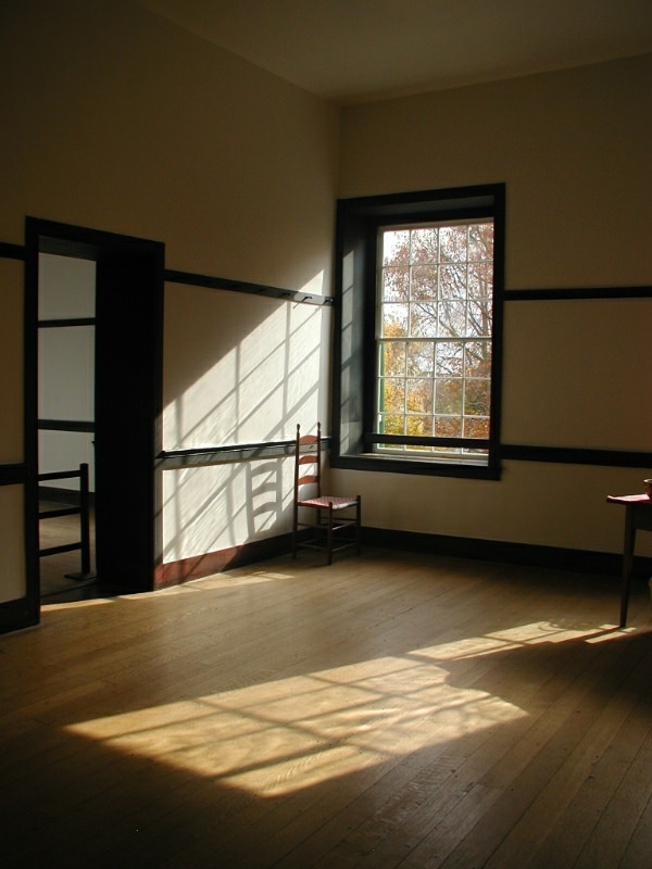 Shaker chair by a window