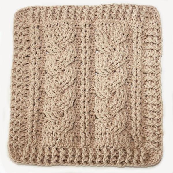 Crochet Cables dishcloth