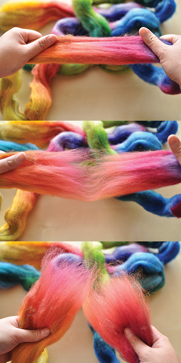 dividing roving widthwise