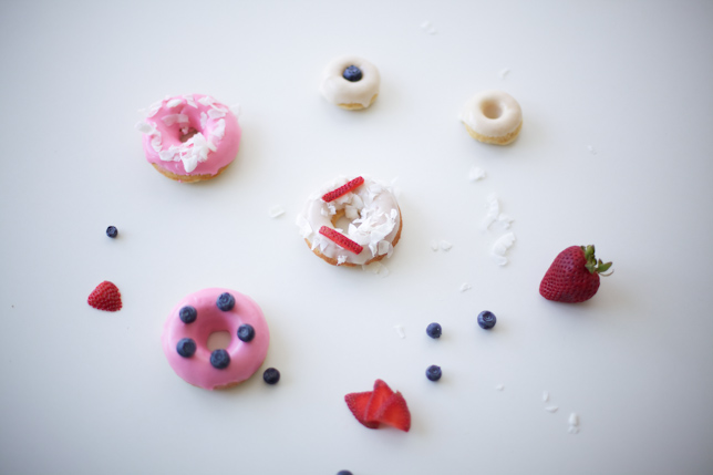 Display of Decorated Doughnuts