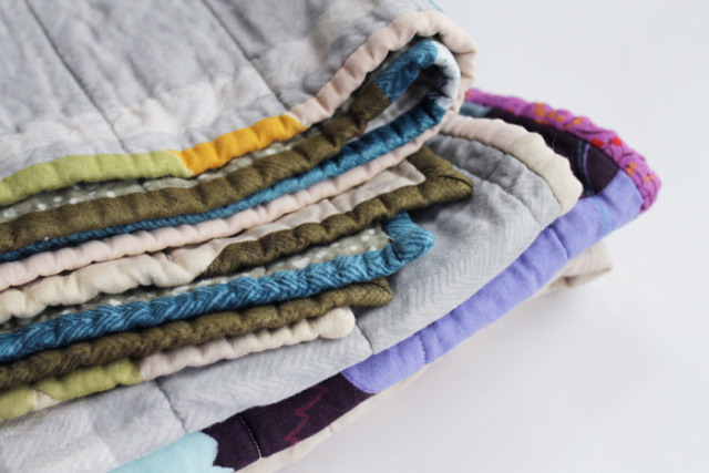 Pile of uber-cozy double gauze quilts
