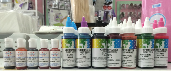oil candy dyes