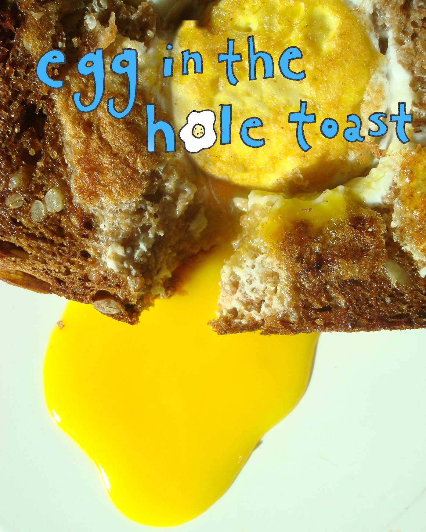 Perfect toast filled with an egg inside