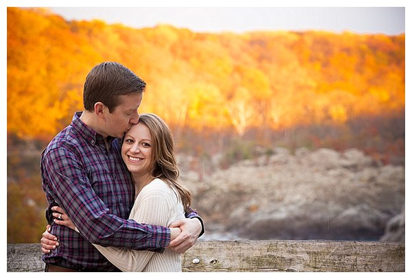 Couple hugging with fall colors - Bluprint.com