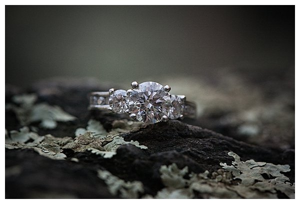 Up close photo of an engagement ring