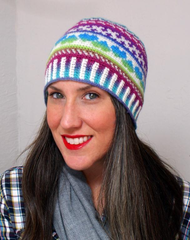Fair Isle crochet love beanie