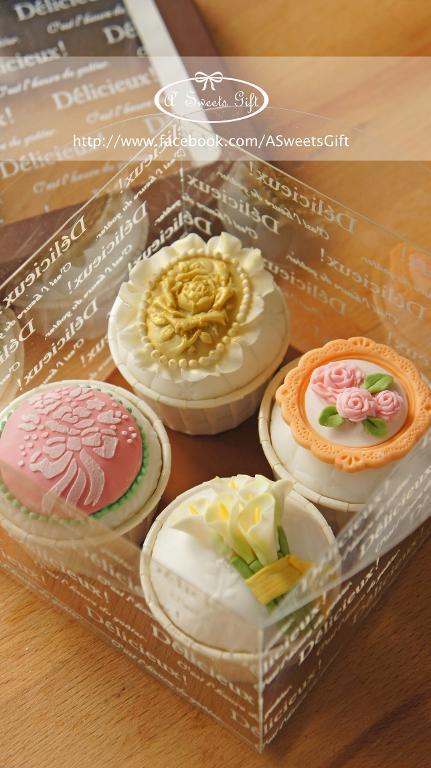 Floral cupcakes designs