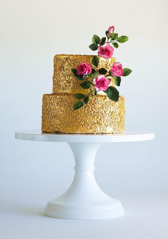 Gold confetti cake by Craftsy member ModernLovers