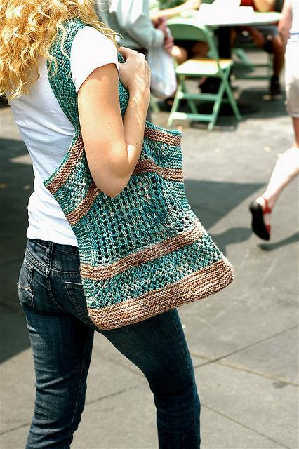 Knitted farmer's market bag