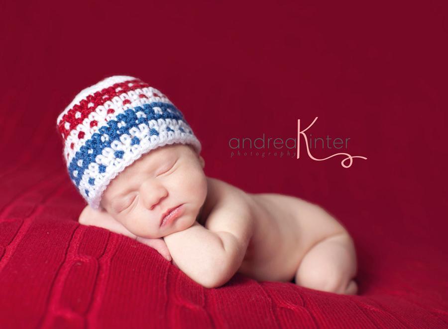 Fair Isle crochet baby beanie