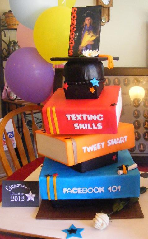Wonky Graduation Cake