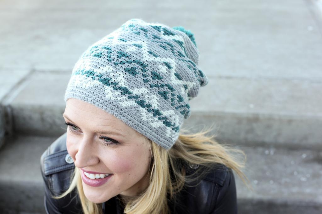 Fair Isle crochet hat