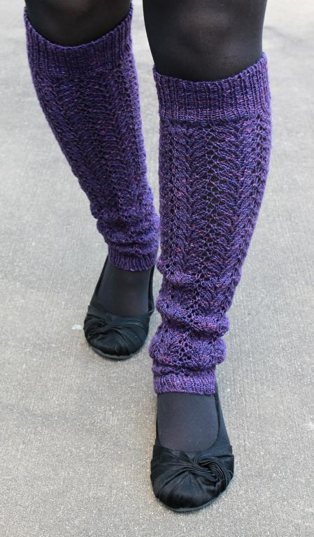 Prima lace knit legwarmers