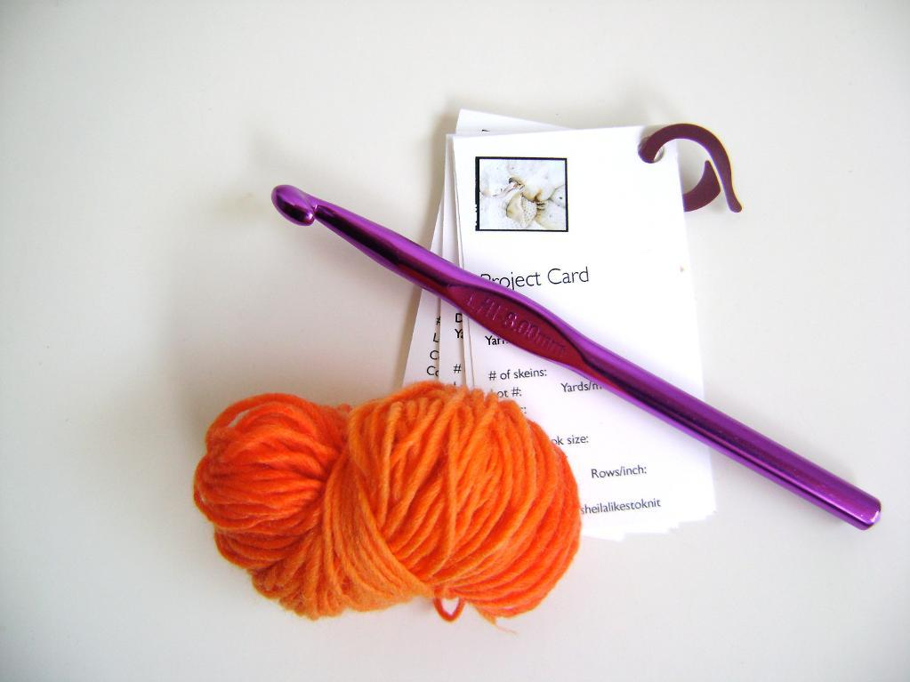 Knitted project cards