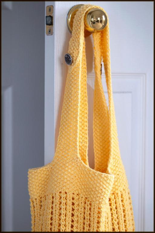 BYOB knitted market bag