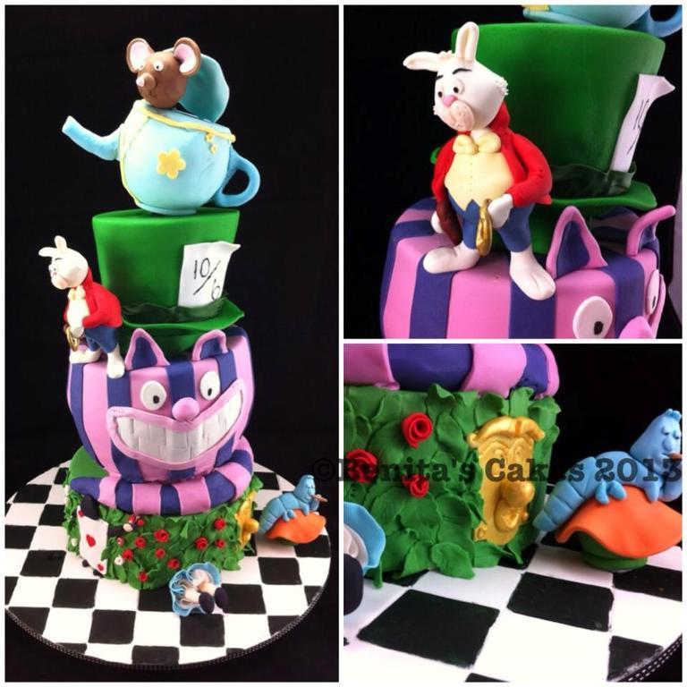 Wonky Alice in Wonderland Cake