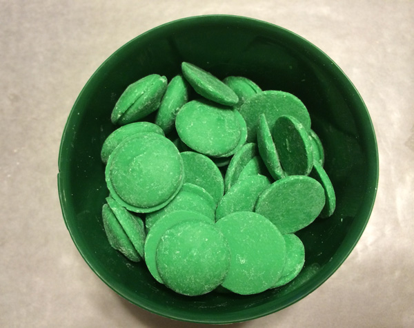 Green candy wafers