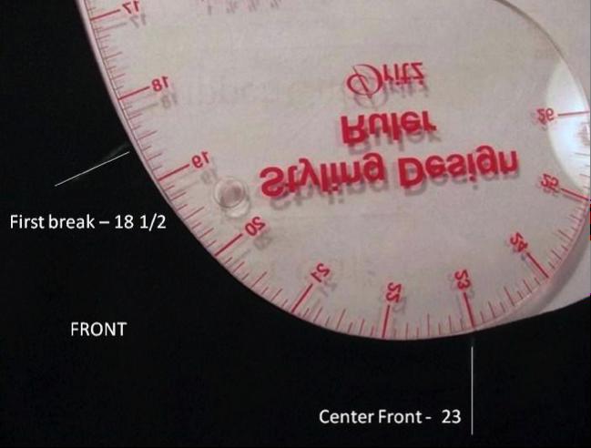 Measuring a neckline to determine style measurements