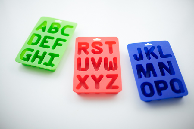 silicone alphabet letter molds