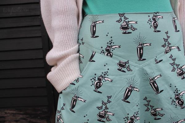 Fun Vintage Print Skirt