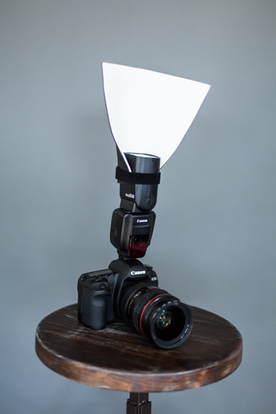 A $2 piece of foam is an excellent reflector