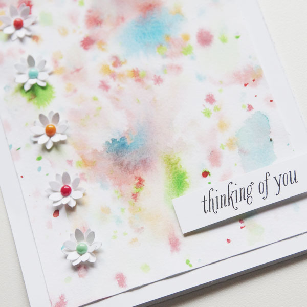 Simple Paper Flowers Card