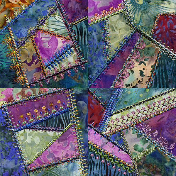Simply Crazy quilt by Molly Mine