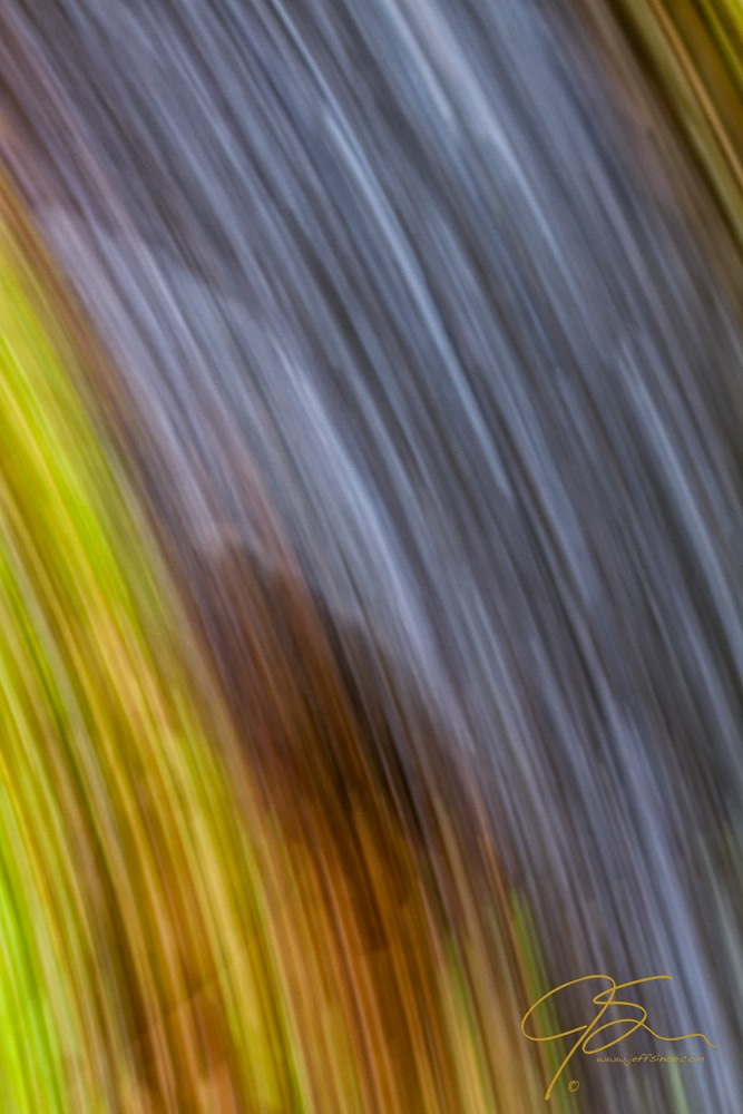 Abstract photo of a rushing stream
