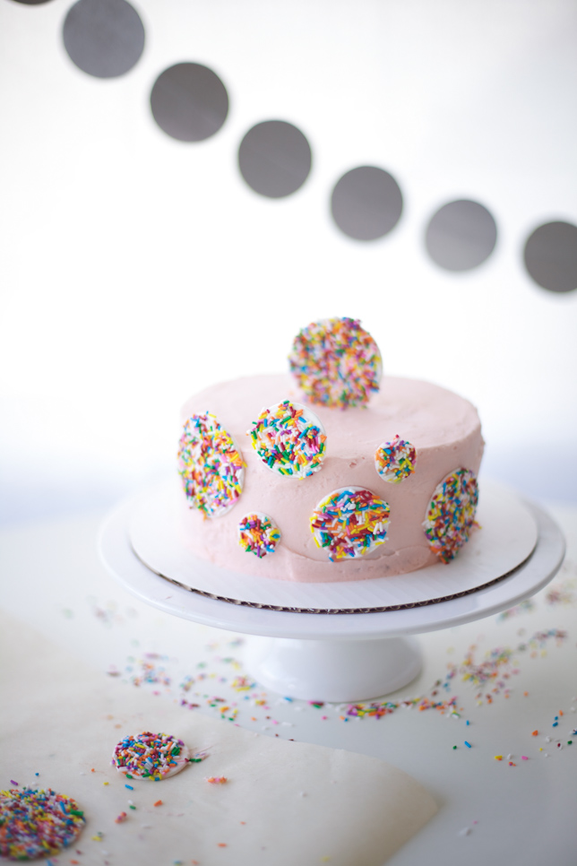 Lovely Cake Decorated With Sprinkles - Bluprint.com