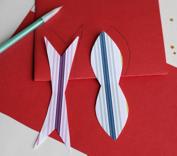 Tracing Paper on a Template for Making Paper Bows