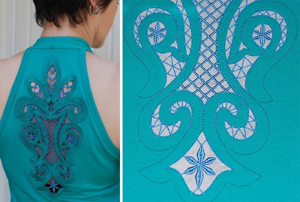 advanced embroidery cutwork lace insert
