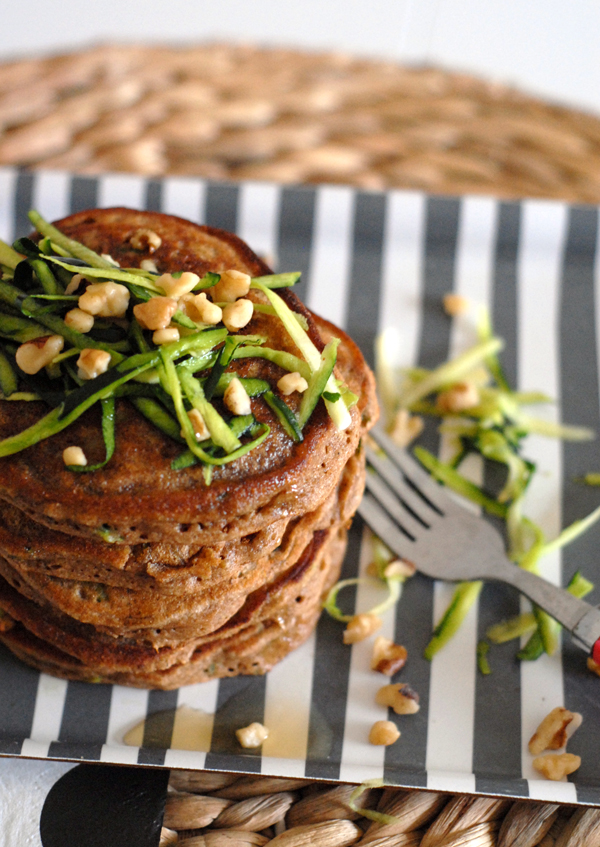 Big Serving of Zucchni-Walnut Pancakes