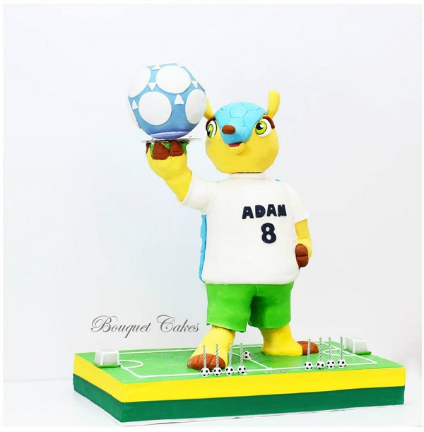 World Cup Soccer Mascot Cake