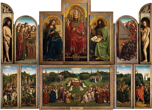 Ghent Altarpiece open