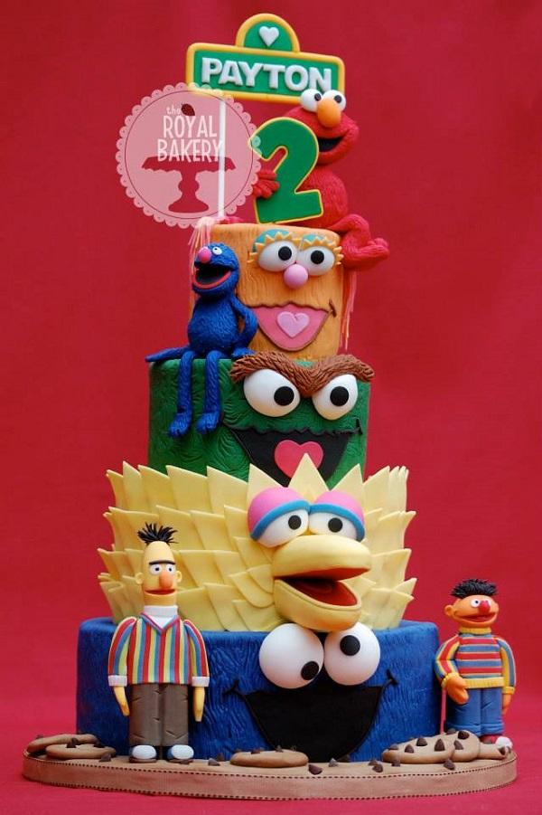 Sesame Street 4-tiered cake