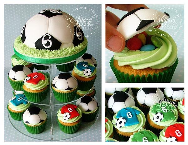 Soccer Cupcake Tower