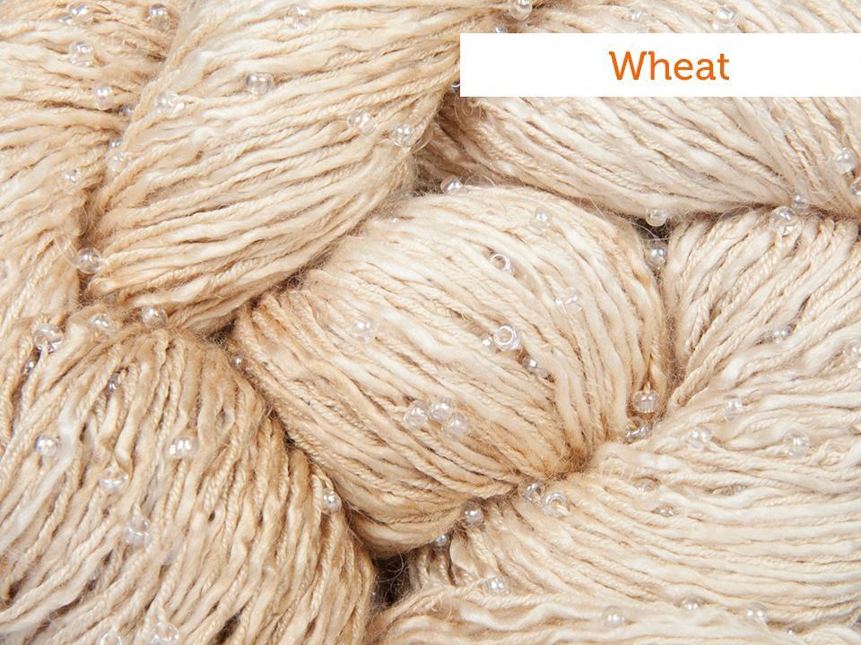 Artyarns beaded silk sequins in wheat