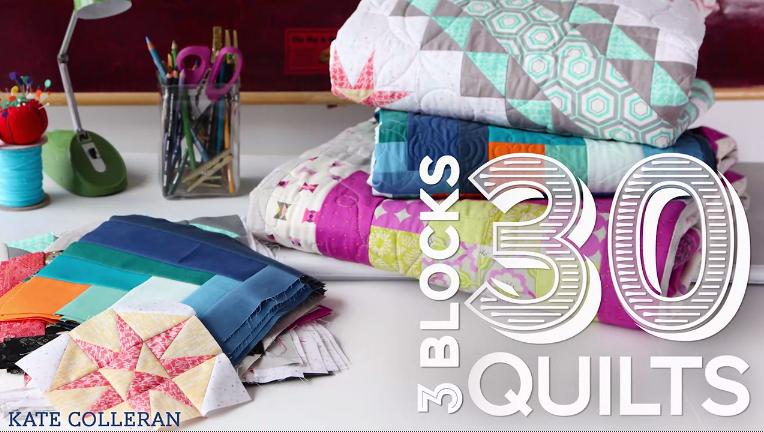 3 Blocks 30 Quilts Bluprint Class!