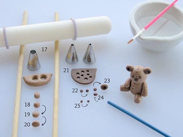 Teddy Bear fondant tutorial 3