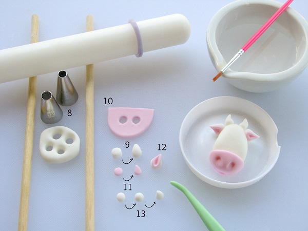 Cow cupcake tutorial 3