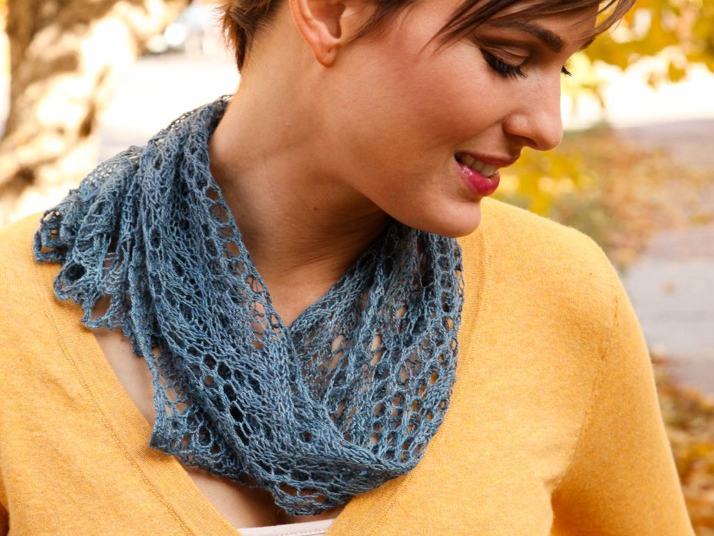 Wild silk ocean scarf