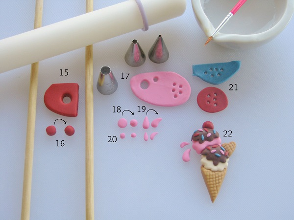 Fondant Ice Cream Tools