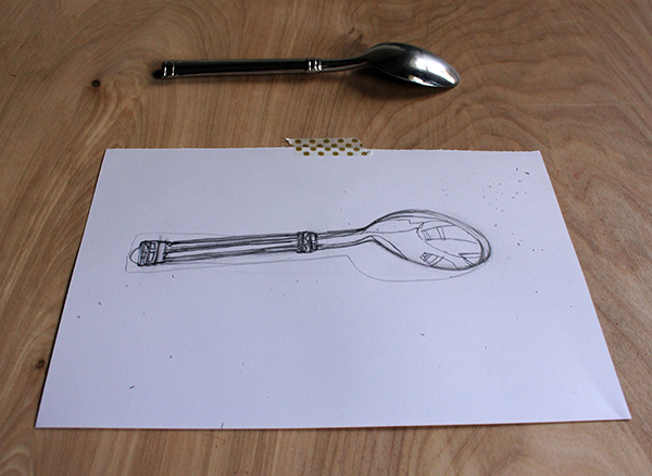 spoon contour drawn 2