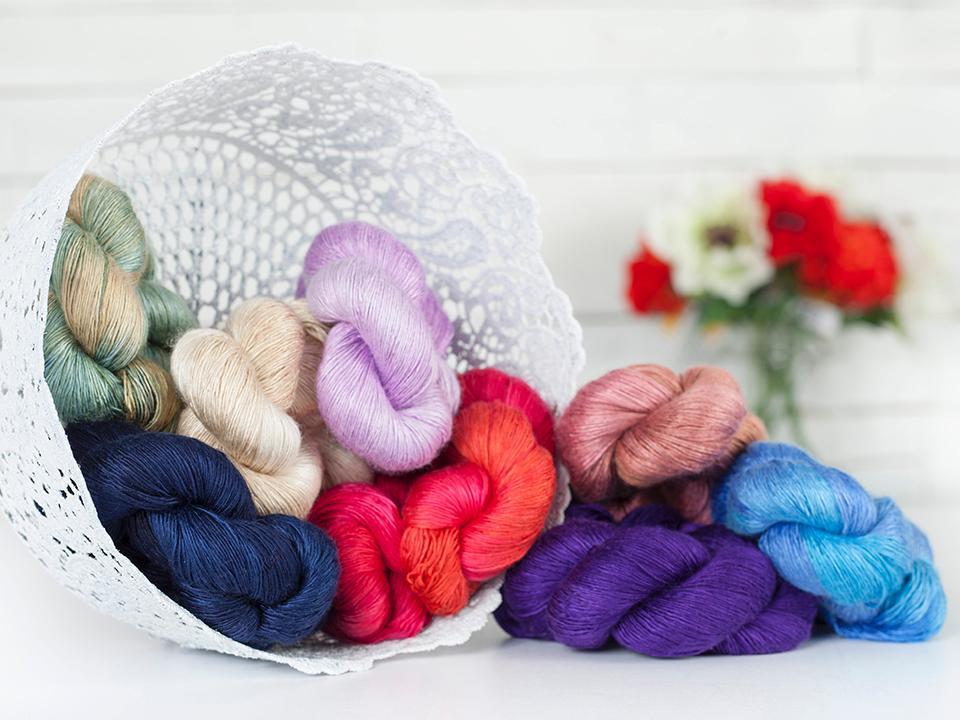 Basket of Artyarns Silk Essense Yarn - Available on Bluprint.com
